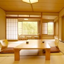 ■和室12.5畳/木と畳の温かみを感じる、明るい和室のお部屋