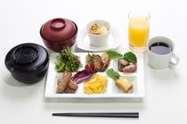 朝食一例【国産米の炊き立てご飯】