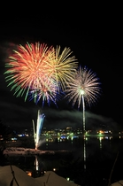 河口湖冬花火 (1月・2月の週末に開催)