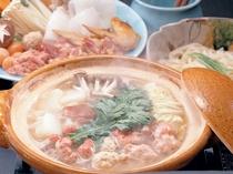 湯原温泉ゆけむり地鶏の味噌鍋