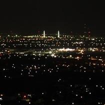 夜の訪れ-。標高110mからの夜景