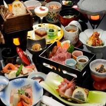 メイン料理【和牛のステーキ】お膳一例
