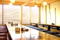 ●1F 朝食会場「彩」大人数にも対応できる座敷完備