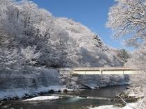 宿周辺の雪景色