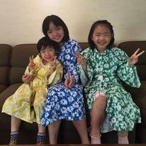 【こども用浴衣】別邸は、幼児・小学生用の浴衣がございます。