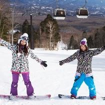 【マウントジーンズ那須】スノーボード初心者もウェルカム!コースは、7コースございます。