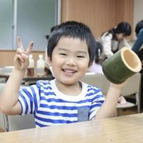 【月替わりの無料体験】★竹ぽっくり作り★パパに竹を切ってもらったよ~!