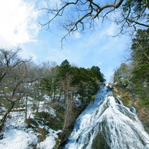 雪解け湯滝