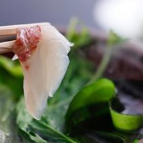 桜鯛と若布のしゃぶしゃぶ(イメージ)
