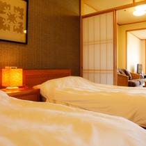和洋室のベッドルーム