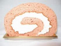 桜風味のロールケーキ