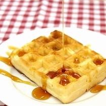 ◆無料朝食【ワッフル】◆メイプルシロップをたっぷりと♪