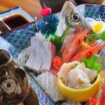 富山湾のお刺身の盛り合わせ