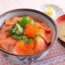 炙りサーモン丼②