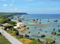 【東平安名崎】日本の都市公園百選にも選ばれています。