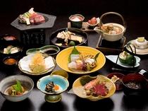 旬の食材を堪能する「季節の懐石料理」一例