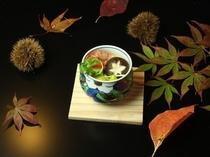 自家製原木しいたけ茶碗蒸し