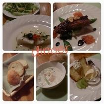 夕食コース料理一例