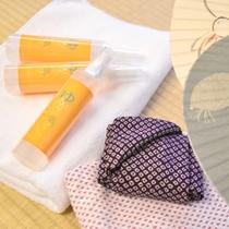 当館の源泉を90%以上配合した化粧水『ゆあがり気分』は当館オリジナル。