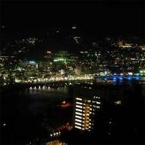 熱海城から見た熱海の夜景全景。有名なフォトスポットです。ぜひお出かけください。