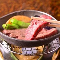通常のコースには、A4ランク和牛の鉄板焼きが付いています。和風旅館とはいえ、おいしいお肉はやっぱり!