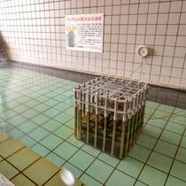 *女性用大浴場/内湯は単純温泉のお湯と、ミネラルを含む天然のラジウム鉱石を使用。