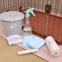 *ペット専用客室設備一例/ゲージの他、トイレシート、消臭スプレー等ございます。