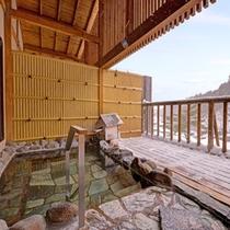 *男性用大浴場/露天風呂は、岩手山からの地下深層水を使った沸かし湯です。