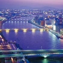 萬代橋側(紫)