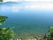 朝の屈斜路湖