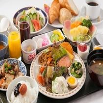 朝食バイキングの一例画像