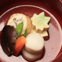 【D+KIRISHIMA】【朝食一例】丁寧に仕上げた煮物は朝から優しい味わいでご提供いたします。