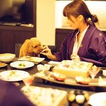 【D+KIRISHIMA】美しく鮮やかに彩る会席を愛犬とともにお部屋食で。