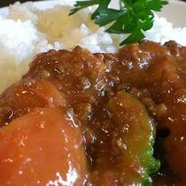 平日ランチ ナスと挽肉のトマトカレー