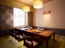 個室食事処「びわの葉」畳席