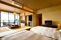 【別邸】半露天風呂&テラス付き和洋室(ベッド5)