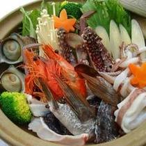 *夕食一例・海鮮鍋