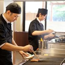 ■朝食の客前料理■