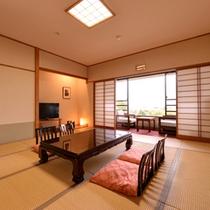 *和室12.5畳(客室一例)/小さいお子様連れのお客様に人気の和室。団欒のひと時をお過ごし下さい。