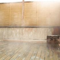 ◇≪大浴場≫檜の露天湯口