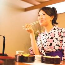 【朝食】ボリュームたっぷりの朝食も、お豆腐や漬物などヘルシー食材たっぷりで嬉しい♪