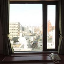 *室内の窓から見た景色です。