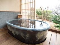 風の棟【露天風呂付】メゾネット2階建てバス・トイレ付の露天風呂(一例)