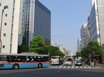 JR大森駅近辺5差路の交差点