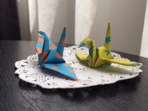 おもてなしの折り鶴