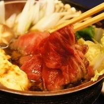 【特別料理 3日前までの予約制)】佐渡牛を使用したすき焼き