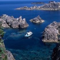 【観光】尖閣湾の海中透視船・遊覧船