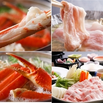 ずわい蟹♪石川産ポーク♪食べ比べ!