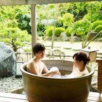 露天風呂付客室101号室 露天風呂