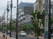 御殿場駅から湯山ビルを見る